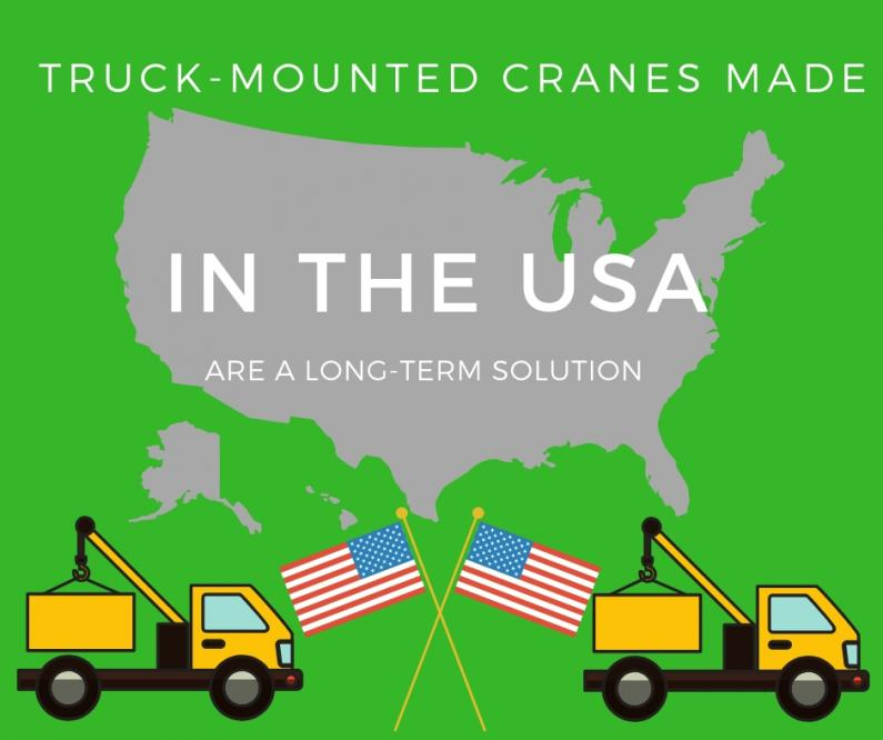 truck cranes made in usa banner